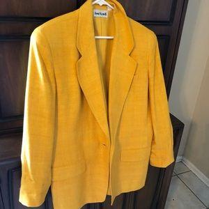 Anne Klein Vintage Yellow blazer